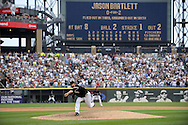 CHICAGO - JULY 23:  Mark Buehrle #56 of the Chicago White Sox throws the final pitch of the game to Jason Bartlett to record the 18th perfect game in major league history against the Tampa Bay Rays on June 23, 2009 at U.S. Cellular Field in Chicago, Illinois.  The White Sox defeated the Rays 5-0. (Photo by Ron Vesely)