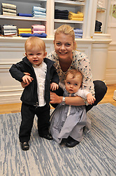 Sharky & George and the RL Gang hosted a pre-Easter Holiday party in support of CLIC Sargent at the Ralph Lauren Children's store, 139/141 Fulham Road, London SW3 on 23rd March 2011.<br /> Image shows:- The COUNTESS OF MORNIGTON and her children MAE and DARCY with the Ralph Lauren Bear.