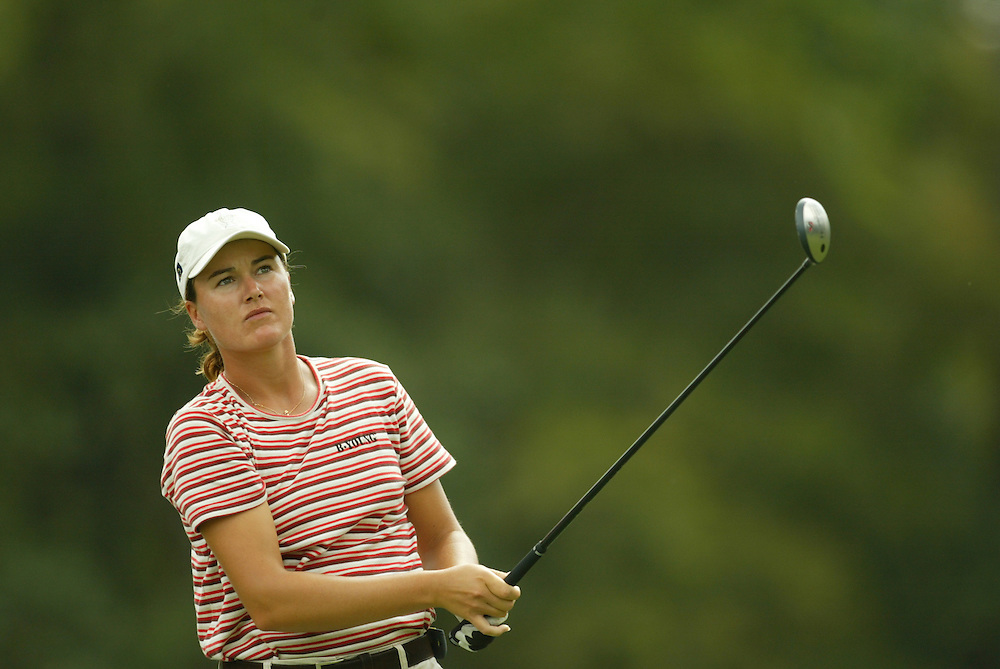 Sophie Gustafson..2003 Samsung World Championships..TPC at the Woodlands..The Woodlands, TX..Sunday, October 12 2003..photograph by Darren Carroll
