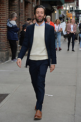 May 16, 2019 - New York, NY, USA - May 16, 2019 New York City..Simon Helberg arriving to tape an appearance on 'The Late Show with Stephen Colbert' on May 16, 2019 in New York City. (Credit Image: © Kristin Callahan/Ace Pictures via ZUMA Press)