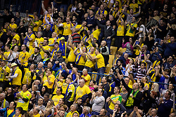 Supporters of RK Celje Pivovarna Lasko during handball match between RK Celje Pivovarna Lasko (SLO) and HBC Nantes (FRA) in Group phase of VELUX EHF Men's Champions League 2018/19, December 2, 2018 in Arena Zlatorog, Celje, Slovenia. Photo by Urban Urbanc / Sportida