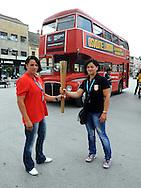 OLIMPIZAM, NOVI SAD, 24. May. 2012. - Marta Tibor i Renata Major Kubik (kajak) i Zavrsne, sedamnaeste EkOlimpijske igre odrzane su danas na Trgu slobode u Novom Sadu. Foto: Nenad Negovanovic