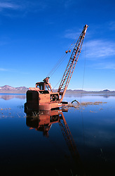 &quot;Dragline in Humboldt Sink, Nevada&quot;- This dragline was photographed at the flooded Humboldt Sink. This area is normally farmland. <br />