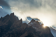 The Cathedral Group of peaks in Grand Tetons National Park, Jackson, Wyoming