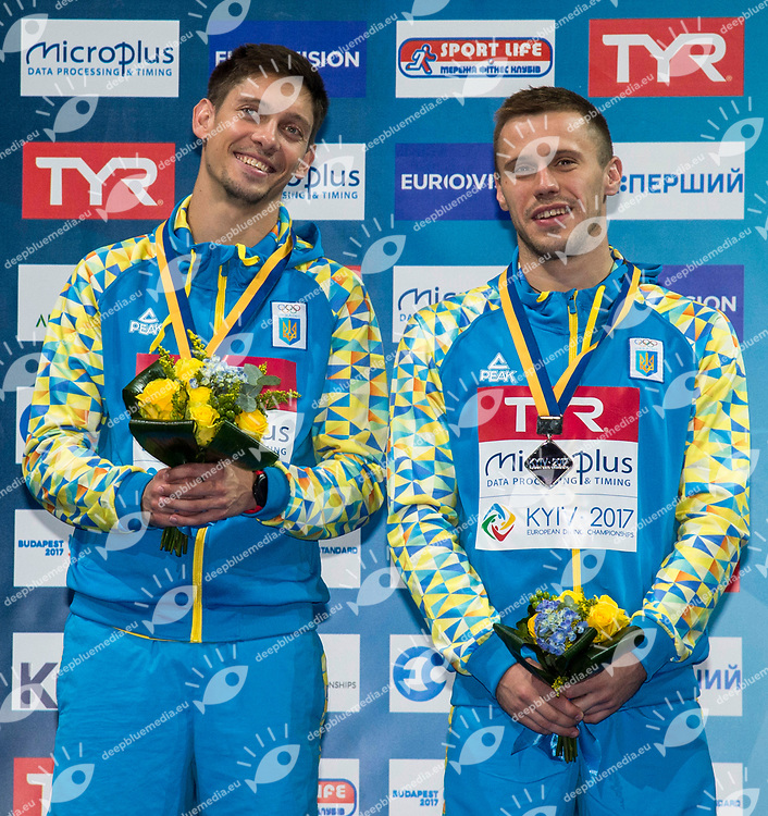 KVASHA Illya, KOLODIY Oleg UKR Silver Medal<br /> 3m Synchronised Men Final<br /> LEN European Diving Championships 2017<br /> Sport Center LIKO, Kiev UKR<br /> Jun 12 - 18, 2017<br /> Day06 17-06-2017<br /> Photo &copy; Giorgio Scala/Deepbluemedia/Insidefoto