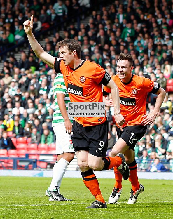 Dundee United v Celtic Scottish Cup Semi Final.Dundee United's captain Jon Daly celebrates second goal......(c) STEPHEN LAWSON | StockPix.eu