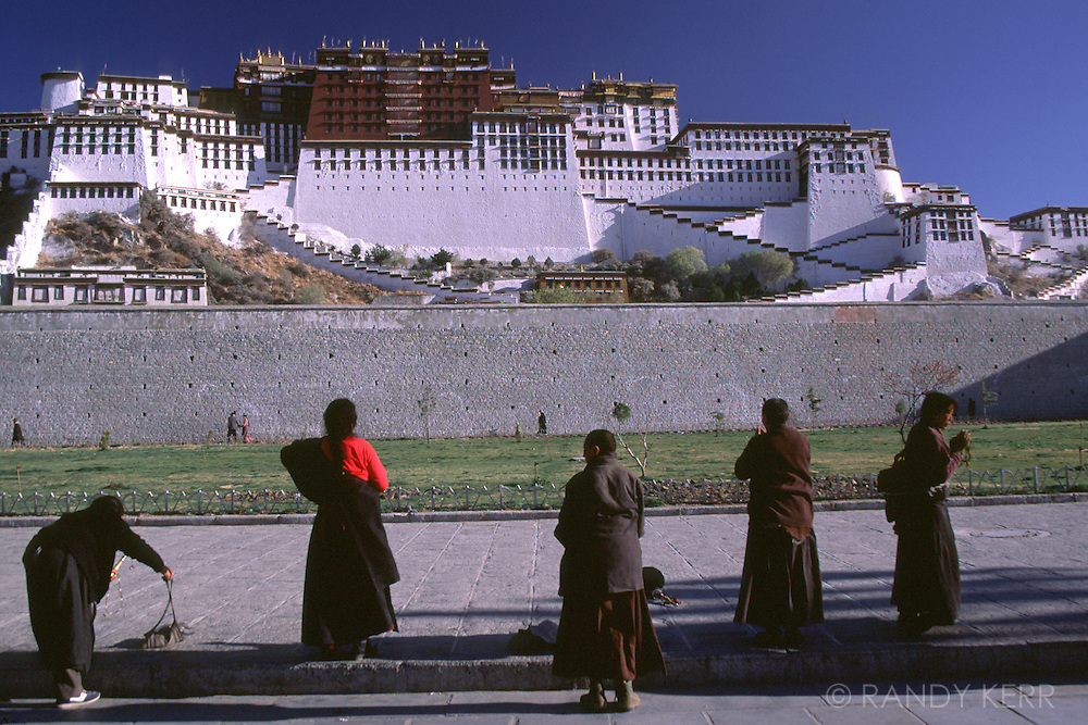 Prostrations at the Potala Palace