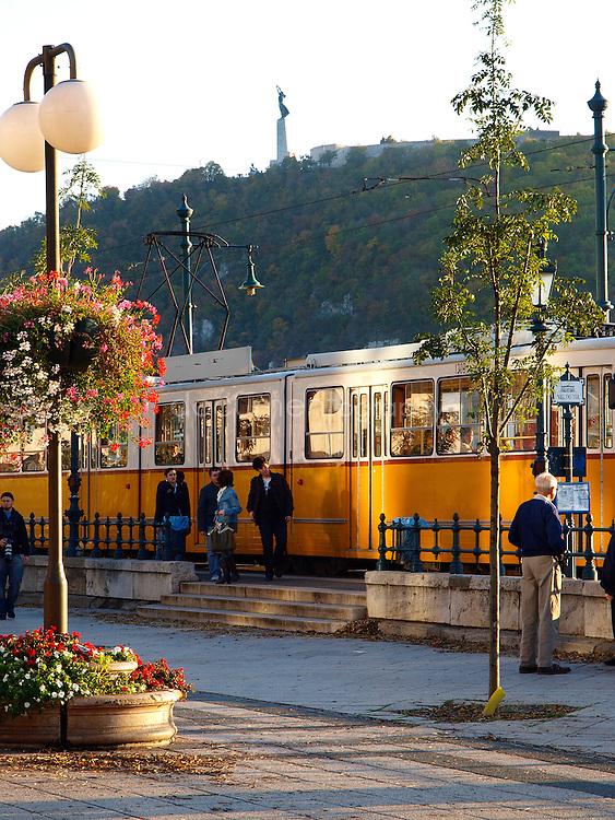 The tram, Budapest, Hungary.