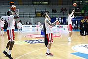 Team Armani Milano durante il pregame, EA7 Emporio Armani Milano vs Dolomiti Energia Trentino - 21 giornata Campionato LBA 2017/2018, Desio PalaDesio 17 marzo 2018 - FOTO Bertani/Ciamillo