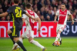 10-04-2019 NED: Champions League AFC Ajax - Juventus,  Amsterdam<br /> Round of 8, 1st leg / Ajax plays the first match 1-1 against Juventus during the UEFA Champions League first leg quarter-final football match / Hakim Ziyech #22 of Ajax