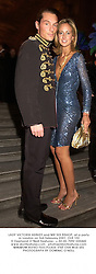 LADY VICTORIA HERVEY and MR SEB BISHOP, at a party in London on 3rd February 2001.	OLB 102