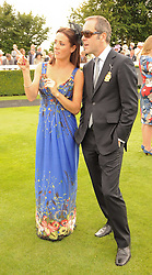 NATALIE PINKHAM and JAMES NESBITT at the third day of the 2010 Glorious Goodwood racing festival at Goodwood Racecourse, Chichester, West Sussex on 29th July 2010.