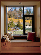 View from my room #307 at the Allison Inn & Spa, a picture perfect vantage from the loveseat overlooking fall vineyards dusted with snow, Willamette Valley, Oregon.