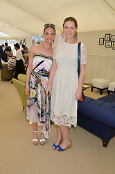 Left to right, TIPHAINE DE LUSSY and her daughter SERAPHINE CHAPMAN at the St.Regis International Polo Cup at Cowdray Park, Midhurst, West Sussex on 16th May 2015.