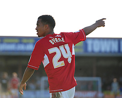 Swindon Town's Nathan Byrne - Photo mandatory by-line: Joe Meredith/JMP - Tel: Mobile: 07966 386802 04/05/2013 - SPORT - FOOTBALL - County Ground - Swindon - Swindon Town v Brentford - Npower League one Play Off