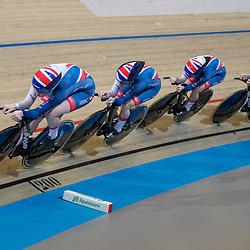 01-03-2018: Wielrennen: WK Baan: Apeldoorn<br />Team Britain pakt zilver op ploegenachtervolging.
