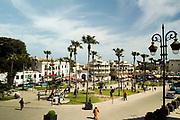 TANGIER, MOROCCO - 25th March 2014 - Street scene of Tangier medina, Rif region, Northern Morocco