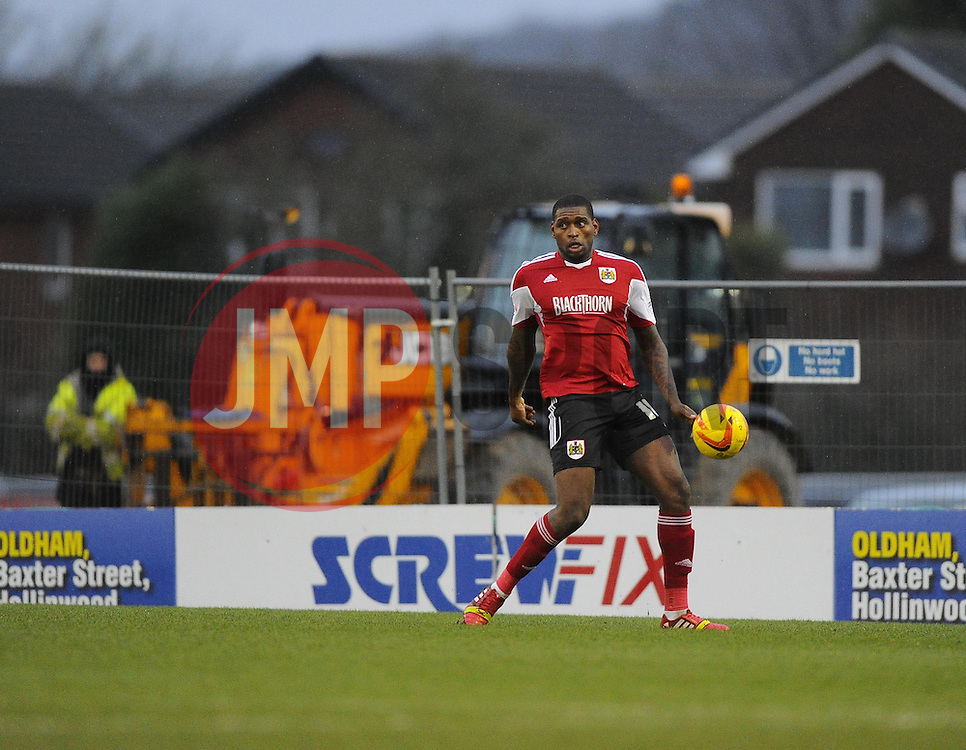 Bristol City's Jay Emmanuel-Thomas - Photo mandatory by-line: Joe Meredith/JMP - Tel: Mobile: 07966 386802 08/02/2014 - SPORT - FOOTBALL - Oldham - Boundary Park - Oldham Athletic v Bristol City - Sky Bet League One