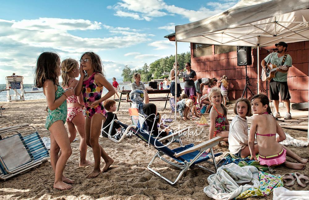 Gilford Parks and Recreation Summer Kick Off Party at Gilford Beach June 29, 2011.