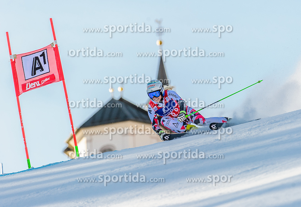 28.12.2015, Hochstein, Lienz, AUT, FIS Ski Weltcup, Lienz, Riesenslalom, Damen, 1. Durchgang, im Bild Eva-Maria Brem (AUT) // Eva-Maria Brem of Austria during 1st run of ladies Giant Slalom of the Lienz FIS Ski Alpine World Cup at the Hochstein in Lienz, Austria on 2015/12/28. EXPA Pictures © 2015, PhotoCredit: EXPA/ Michael Gruber