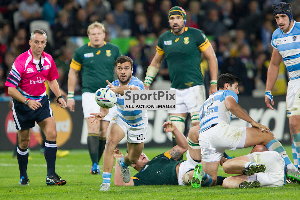 LONDON, ENGLAND - OCTOBER 30: Martin Landajo during the 2015 Rugby World Cup Bronze final match between South Africa and Argentina at The Olympic Stadium on October 30, 2015 in London, England. (Credit: SAM TODD | SportPix.org.uk)