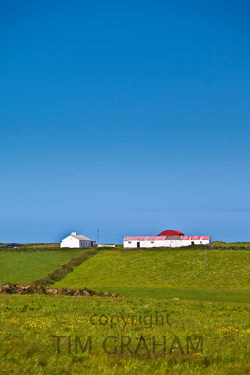 Smallholding farm with Dutch barn in Bealatha, County Clare, West of Ireland