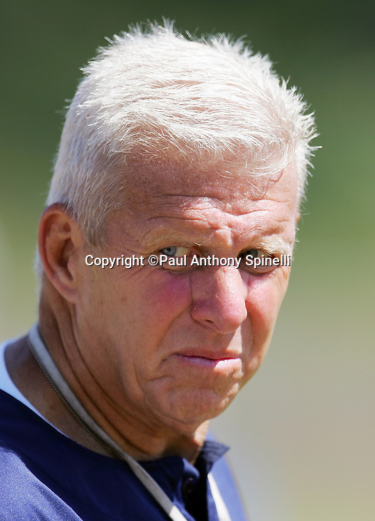OXNARD, CA - AUGUST 9:  Head Coach Bill Parcells of the Dallas Cowboys gives a stern look during the Dallas Cowboys training camp on August 9, 2006 in Oxnard, California. ©Paul Anthony Spinelli *** Local Caption *** Bill Parcells