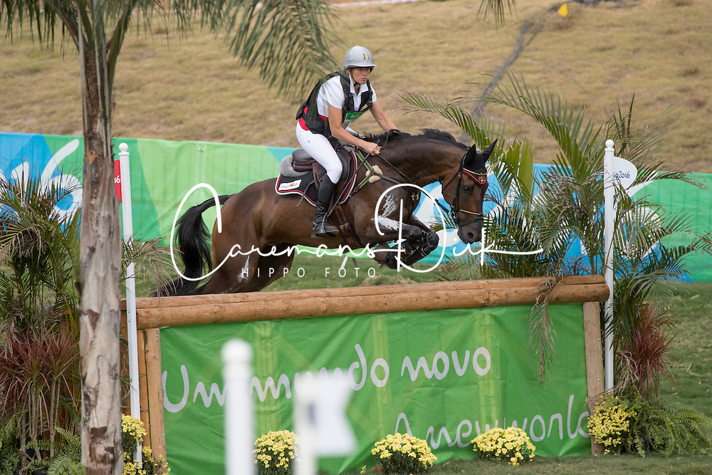 Donckers Karin, BEL, Fletcha van't Verahof<br /> Cross country<br /> Olympic Games Rio 2016<br /> &copy; Hippo Foto - Dirk Caremans<br /> 08/08/16