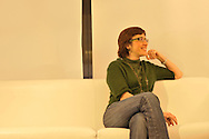Sara Alcázar at KIKE CALVO Gallery. Zaragoza. Sara is the Director of the Pavilion. La ?Cesta?: Aragon?s pavilion at Expo Zaragoza 2008. Focused on the issues of Water and Sustanable Development.Zaragoza, host city for the International Exposition, is the administrative and financial capital of the autonomous community of Aragon and the fifth largest Spanish city in inhabitants (660,000), behind Madrid, Barcelona, Valencia and Seville,