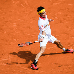 Kei Nishikori (Japan) during Day 4 for the French Open 2018 on May 30, 2018 in Paris, France. (Photo by Anthony Dibon/Icon Sport)