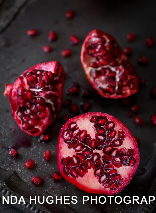 Pomegranate on Wooden Surface