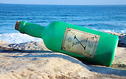 The world's largest free-to-the-public outdoor sculpture exhibition, Sculpture by the Sea, Bondi. .Steven Thomson & Jonas Allen- Message in a Bottle.