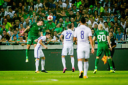 Dino Stiglec of NK Olimpija Ljubljana during football match between NK Olimpija Ljubljana and NK Maribor in 7th Round of Prva liga Telekom Slovenije 2017/18, on August 27, 2017 in SRC Stozice, Ljubljana. Photo by Ziga Zupan / Sportida