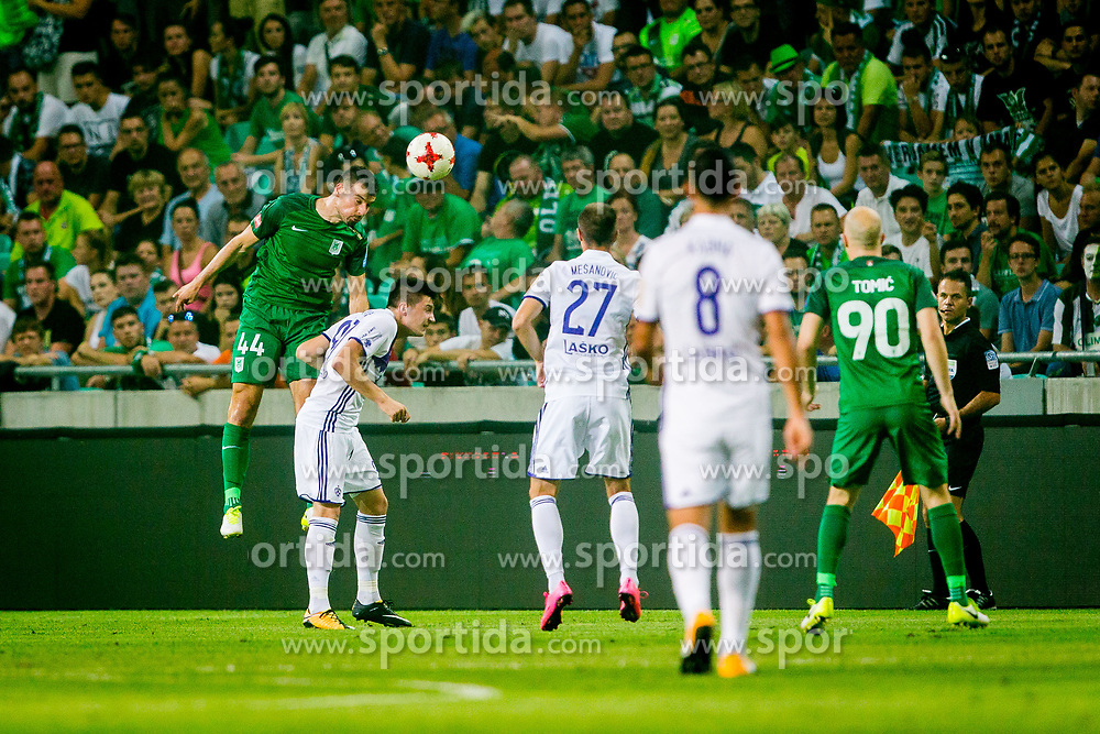 Dino Stiglec of NK Olimpija Ljubljana during football match between NK Olimpija Ljubljana and NK Maribor in 7th Round of Prva liga Telekom Slovenije 2017/18, on August 27, 2017 in SRC Stozice, Ljubljana. Photo by Ziga Zupan / Sportida