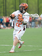 2011/05/22 - RIT junior midfield Tom Riley passes to a teammate in the third quarter of the National Semifinal against Tufts. Tufts defeated RIT 16-12 to advance to the National Championship against Salisbury.