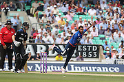 England Adil Rashid bowing during the Royal London One Day International match between England and New Zealand at the Oval, London, United Kingdom on 12 June 2015. Photo by Phil Duncan.