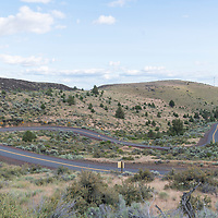 Open road near Shaniko, Oregon
