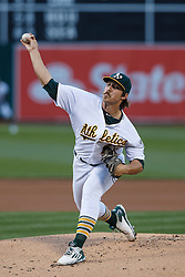 OAKLAND, CA - JULY 15:  Daniel Mengden #67 of the Oakland Athletics pitches against the Toronto Blue Jays during the first inning at the Oakland Coliseum on July 15, 2016 in Oakland, California. (Photo by Jason O. Watson/Getty Images) *** Local Caption *** Daniel Mengden