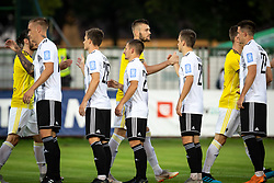 Players of NŠ Mura and NK Maribor before football match between NŠ Mura and NK Maribor in 4th Round of Prva liga Telekom Slovenije 2019/20, on Avgust 3, 2019 in Fazanerija, Murska Sobota, Slovenia. Photo by Blaž Weindorfer / Sportida