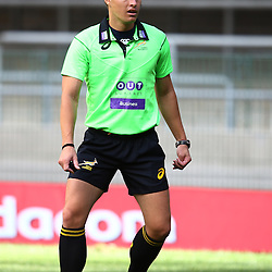 Cape Town, SOUTH AFRICA,  13, February  2016 - Referee: Marius van der Westhuizen (South Africa)  during the Pre Season match between The DHL Stormers and The Jaguares for the 2016 Super Rugby Season at Newlands Rugby Stadium Cape Town, South Africa. (Photo by Steve Haag)<br /> <br /> Images for social media must have consent from Steve Haag