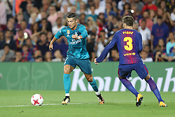 August 13, 2017 - Barcelona, Spain - Cristiano Ronaldo of Real Madrid during the Spanish Super Cup football match between FC Barcelona and Real Madrid on August 13, 2017 at Camp Nou stadium in Barcelona, Spain. (Credit Image: © Manuel Blondeau via ZUMA Wire)