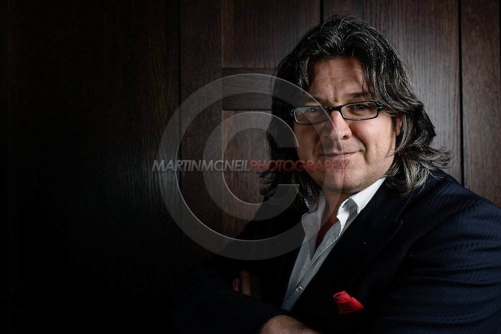 LONDON, ENGLAND, MARCH 5, 2014: Journalist Gareth A. Davies poses for a portrait inside One Embankment in London, England (Martin McNeil for ESPN)