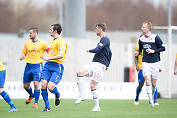 Falkirk's Rory Loy scoring their first goal.<br /> Falkirk 5 v 0 Cowdenbeath, Scottish Championship game played today at The Falkirk Stadium.<br /> &copy; Michael Schofield.