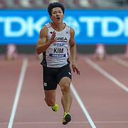 Kukyoung Kim (South Korea), 100m Men - Preliminary Round, Heat 2, during the 2019 IAAF World Athletics Championships at Khalifa International Stadium, Doha, Qatar on 27 September 2019.
