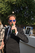 HARRY BECHER, Serpentine's Summer party co-hosted with Christopher Kane. 15th Serpentine Pavilion designed by Spanish architects Selgascano. Kensington Gardens. London. 2 July 2015.
