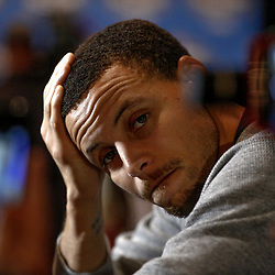 Feb 17, 2017; New Orleans, LA, USA; Western Conference All Star Stephen Curry during the All Star media availability at the Ritz Carlton. Mandatory Credit: Derick E. Hingle-USA TODAY Sports