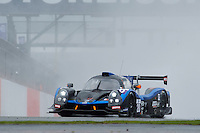 Eric Clement (FRA) / Romain Iannetta (FRA) / Maxime Pialat (CHE)  # 20 Duqueine Engineering, Ligier JS P3, Nissan VK50VE 5.0 L V8, during Qualifiying for the ELMS  as part of the ELMS 4 Hours of Silverstone 2016 at Silverstone, Towcester, Northamptonshire, United Kingdom. April 16 2016. World Copyright Peter Taylor. Copy of publication required for printed pictures.
