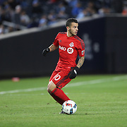 NEW YORK, NEW YORK - November 06: Sebastian Giovinco #10 of Toronto FC in action during the NYCFC Vs Toronto FC MLS playoff game at Yankee Stadium on November 06, 2016 in New York City. (Photo by Tim Clayton/Corbis via Getty Images)