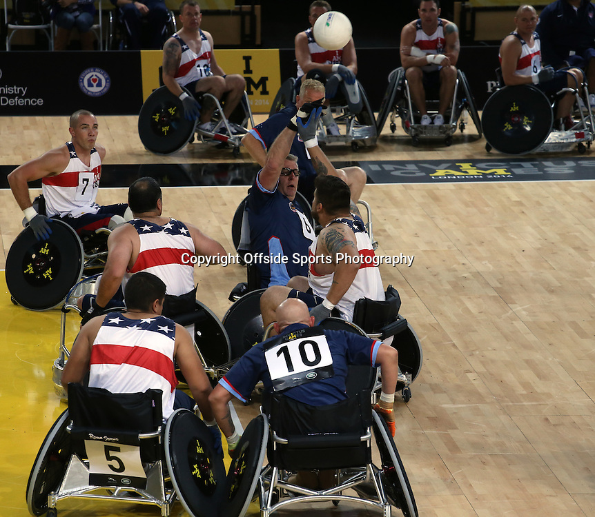 12 September 2014 - Invictus Games Day 2 - USA v Australia - General action from the first match of the day.<br /> Photo: Ryan Smyth/Offside