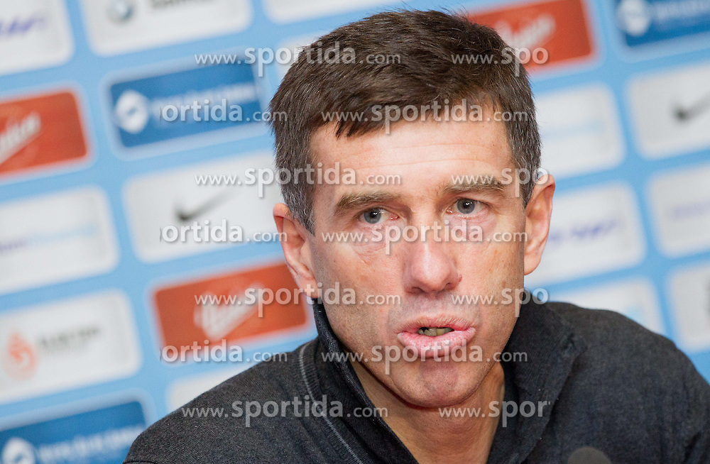 Srecko Katanec, head coach of Team Slovenia during press conference of Football Association of Slovenia (NZS) on January 22, 2013 in Austria Trend Hotel, Ljubljana, Slovenia. (Photo By Vid Ponikvar / Sportida.com)
